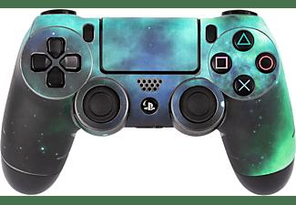 SOFTWARE PYRAMIDE Skins - Sticker für PS4 Controller, Skin für PS4 Controller, Galaxy Green