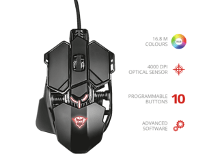 TRUST Souris Gamer GXT 138 X-Ray Illuminated (22089)