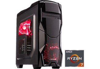 CAPTIVA GAMING R46-707, Gaming PC mit Ryzen™ 7 Prozessor, 16 GB RAM, 240 GB SSD, 1 TB HDD, GeForce® RTX™ 2080, 8 GB