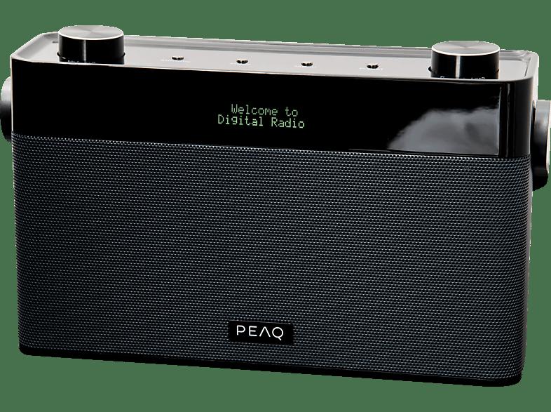 PEAQ PDR180BT-B Tragbares DAB+ Radio mit Bluetooth, analog + digital, DAB+, FM, Schwarz/grau