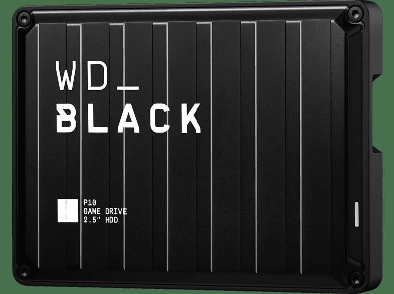 WD BLACK P10 Game Drive 4 TB, 2,5 Zoll, Gaming-Festplatte, Schwarz