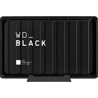 WD BLACK D10 Game Drive 8 TB, 3,5 Zoll, Gaming-Festplatte, Schwarz/Weiß