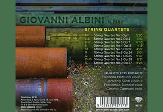 Quartetto Indicato - Albini:String Quartets  - (CD)