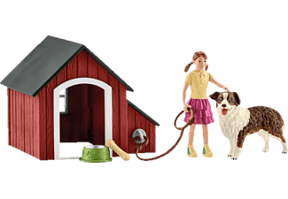 SCHLEICH Hundehütte Spielfigur Mehrfarbig