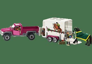 SCHLEICH HC Pick-up mit Pferdeanhänger Spielfigur Mehrfarbig