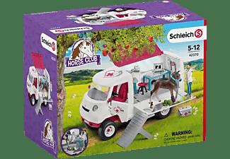 SCHLEICH HC Mobile Tierärztin m.Hannoveraner Fohl Spielfigur Mehrfarbig