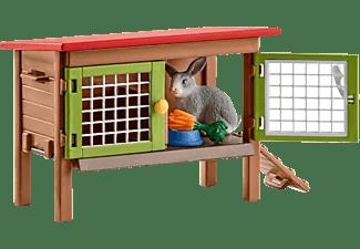 SCHLEICH Kaninchenstall Spielfigur Mehrfarbig