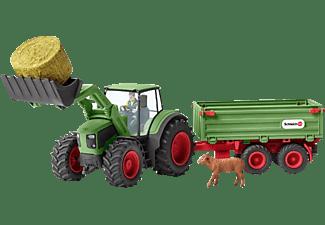 SCHLEICH Traktor mit Anhänger Spielfigur Mehrfarbig