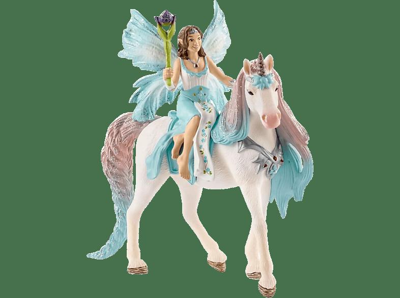 SCHLEICH Eyela mit Prinzessinnen-Einhorn Spielfigur, Mehrfarbig