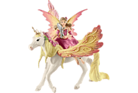 SCHLEICH Feya mit Pegasus-Einhorn Spielfigur, Mehrfarbig