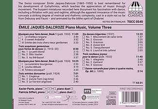 Emile (1865-1950) Jaques-dalcroze - Klaviermusik,Vol.3  - (CD)