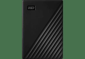WD My Passport™ 5 TB Schwarz , 5 TB HDD, 2,5 Zoll, extern, Schwarz