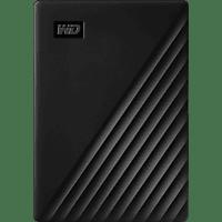 WD My Passport™ 5 TB Schwarz  Festplatte, 5 TB HDD, 2,5 Zoll, extern, Schwarz