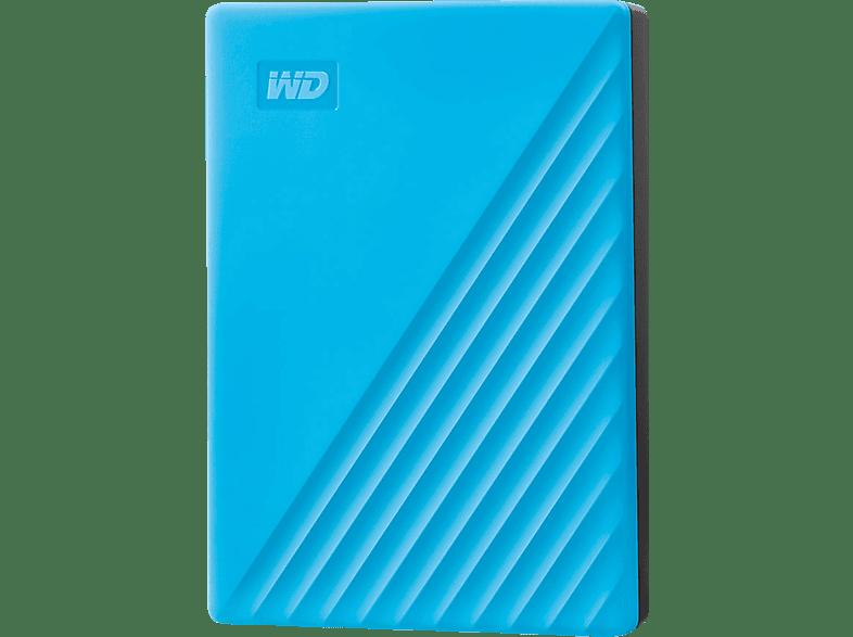 WD My Passport, 4 TB HDD, 2,5 Zoll, extern, Blau