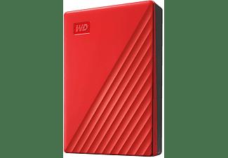 WD My Passport Festplatte, 4 TB HDD, 2,5 Zoll, extern, Rot