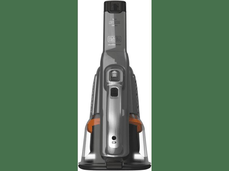 Titanium//Silber Akkusauger ohne Stiel Handstaubsauger BLACK+DECKER BHHV520BFP