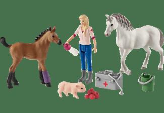 SCHLEICH Arztbesuch bei Stute und Fohlen Spielfigur Mehrfarbig