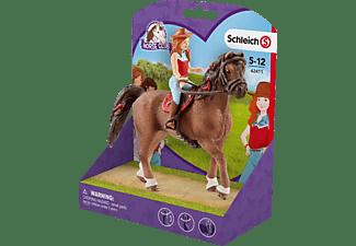 SCHLEICH HC Horse Club Hannah & Cayenne Spielfigur Mehrfarbig