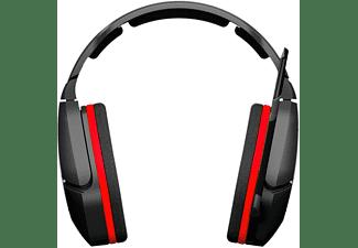 Auriculares gaming multiplataforma, Gioteck HC-3, Rojo y Negro