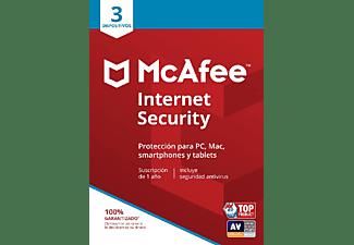 Antivirus - Mcafee Internet Security 2019, 3 Usuarios, 1 Año (Suscripción Digital)