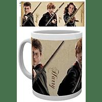 EMPIRE Harry Potter - Wands - Lizenz Keramik-Tasse Tasse, Mehrfarbig