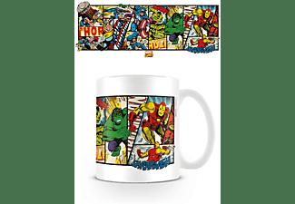 Marvel - Retro - Heroes Panels - Lizenz Keramik-Tasse