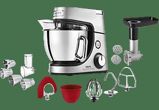 KRUPS KA631D Master Perfect Gourmet + Delica Tool  Küchenmaschine Edelstahl gebürstet (Rührschüsselkapazität: 4,6 Liter, 1100 Watt)