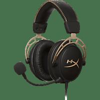 HYPERX Cloud Alpha, Over-ear Gaming Headset Schwarz/Gold