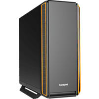 BE QUIET Silent Base 801 Gaming PC Gehäuse, Schwarz/Orange
