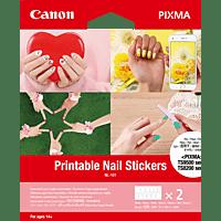 CANON NL-101 Fingernagel-Sticker 2 Sets mit Fingernagel-Stickern für beide Hände (12 Sticker pro Blatt), Bedienungsanleitung (1 Blatt)