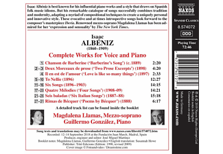 Magdalena Llamas, Guillermo Gonzalez - Sämtliche Lieder  - (CD)