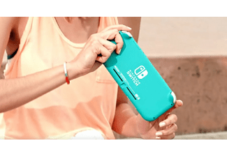Consola - Nintendo Switch Lite, Portátil, Controles integrados, Azul turquesa