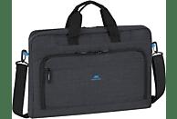 RIVACASE Black + wireless Maus Bundle Tasche, Umhängetasche, 17.3 Zoll, Schwarz/Blau