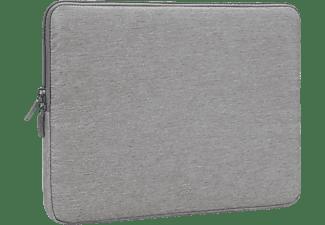 RIVACASE Wasserabweisende stoßfeste 13,3 Zoll Laptop Hülle Notebooktasche Sleeve für Universal Wasserabweisendes Polyester, Grau