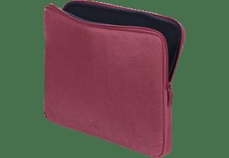 RIVACASE Wasserabweisendes Notebooktasche Sleeve für Universal Wasserabweisendes Polyester, Rot/Himbeer Rot