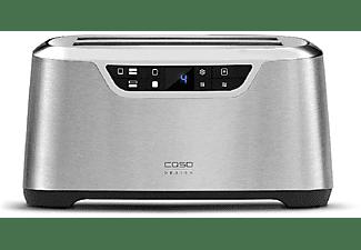 Tostadora - Caso Novea T4, 1.600 W, LCD Digital, 9 Niveles, Inox
