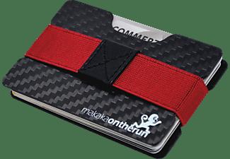 MAKAKAONTHERUN RFID Blocking Carbon Ultra-Slim Wallet Blocker-Hülle Schwarz