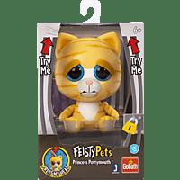 GOLIATH Feisty Pets - Yellow Cat 10cm Plüschtier, Mehrfarbig