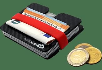 MAKAKAONTHERUN Carbon Slim Wallet mit Münzfach RFID NFC Blocker Carbonschwarz