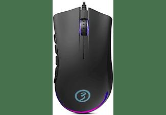 Ratón -  OZONE, Ratón, EXON X90 Óptico, 12000 dpi, USB, Negro