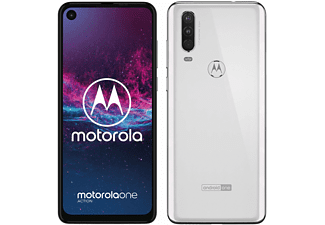 "Móvil - Motorola One Action, Blanco, 128 GB, 4 GB RAM, 6.3"", Samsung Exynos 9609, 3500 mAh, Android"