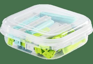 XAVAX Verschlussclips-Set mit praktischer Aufbewahrungsbox, Bunt, 30 Stück