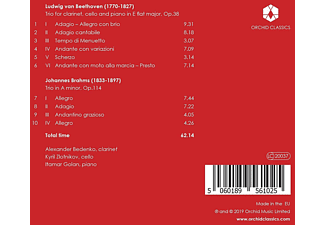 Alexander Bedenko, Kyril Zlotnikov, Itamar Golan - Beethoven & Brahms: Klarinettentrios  - (CD)