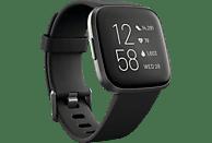 FITBIT FB507BKBK Versa 2 (NFC) Smartwatch Aluminium Silikon, S,L, Black/Carbon