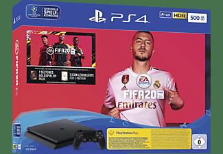 SONY Playstation 4 500GB Jet Black: EA Sports Fifa 20-Bundle