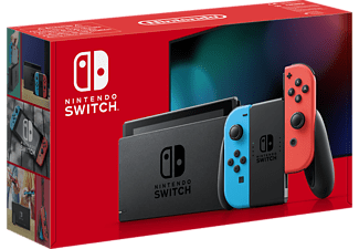 NINTENDO Switch Console Red and Blue Joy-Con Had