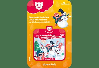 TIGERMEDIA Tigercard - Tigerstarke Kinderhits - Die 20 besten Lieder zur Weihnachtszeit Vol.1 Tigercard, Mehrfarbig