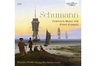 Roberto Plano, Paola Del Negro - SCHUMANN: COMPLETE MUSIC FOR PIANO 4-HANDS  - (CD)