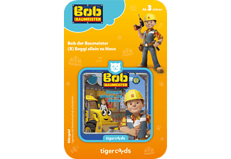 TIGERMEDIA Tigercard - Bob der Baumeister - Baggi allein zu Haus Tigercard, Mehrfarbig