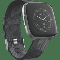 FITBIT  Versa 2 (NFC) Special Edition Smartwatch Aluminium, Gewebe, S, L, Smoke Woven